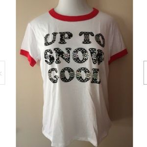 PINK Victoria's Secret Women's T-Shirt Snow Good